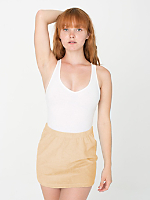 Loop Terry Mini Skirt with Elastic Band