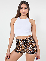 Watercolor Cheetah Printed Disco Short