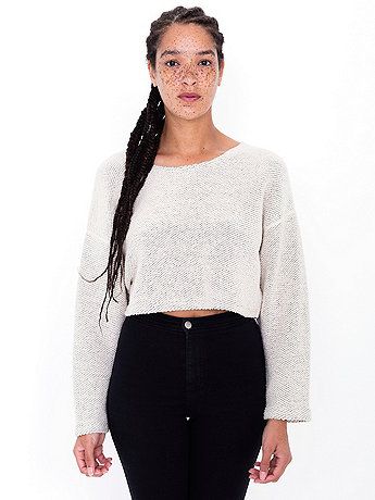 Cropped Reversible Easy Sweater