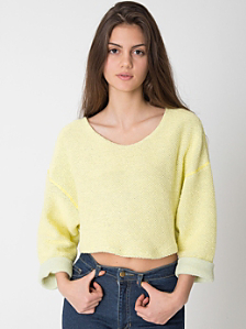 AU Exclusive! Cropped Reversible Easy Sweater