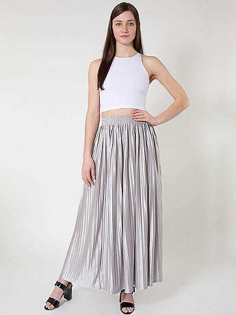 Long Accordion-Pleat Skirt