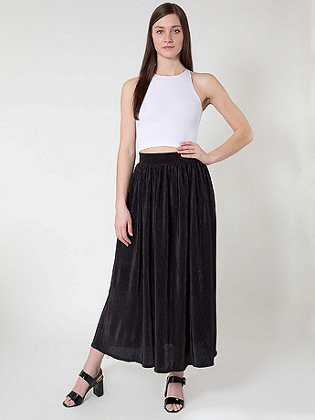 Long Accordion-Pleat Skirt