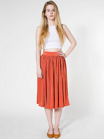 Mid-Length Accordion-Pleat Skirt