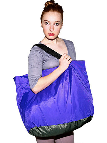 Nylon Pack Cloth Oversized X-Colour Tote