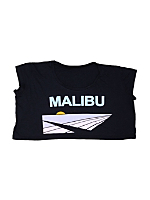 Screen Printed Loose Crop Top - Malibu