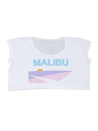 Screen Printed Loose Crop Top - Malibu