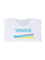 Screen Printed Loose Crop Top - Venice