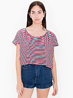 Striped Loose Crop Tee