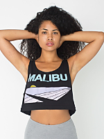 Screen Printed Loose Crop Tank - Malibu