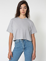 Poly-Cotton Form Fit Crop Tee