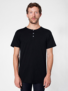 Poly-Cotton Short Sleeve Henley