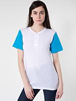 Unisex Poly-Cotton Short Sleeve Henley