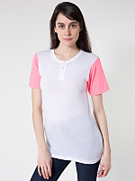 Unisex Poly-Cotton Short Sleeve Henley