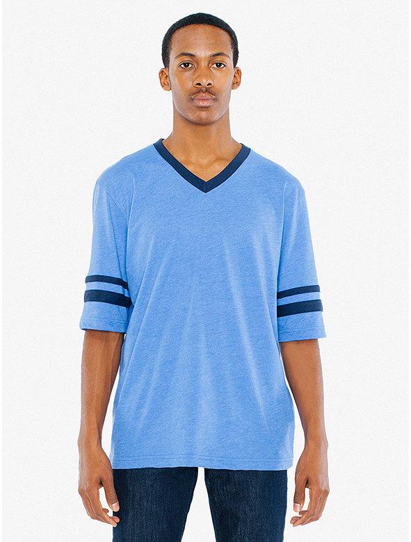 50/50 Football V-Neck T-Shirt