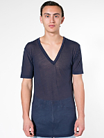 See Thru Short Sleeve V-Neck