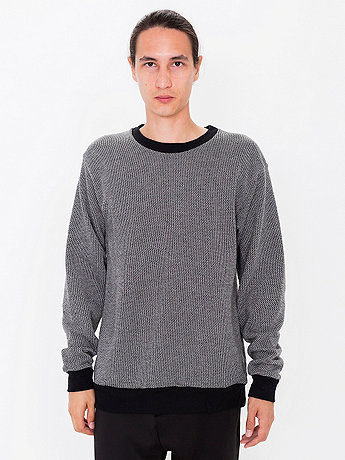 Birdseye Fleece Drop-Shoulder Pullover