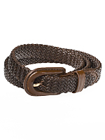 Unisex Skinny Braided Leather Belt