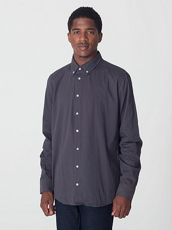 Cotton Twill Long Sleeve Button-Down
