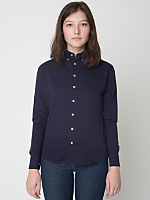 Unisex Cotton Twill Long Sleeve Button-Down