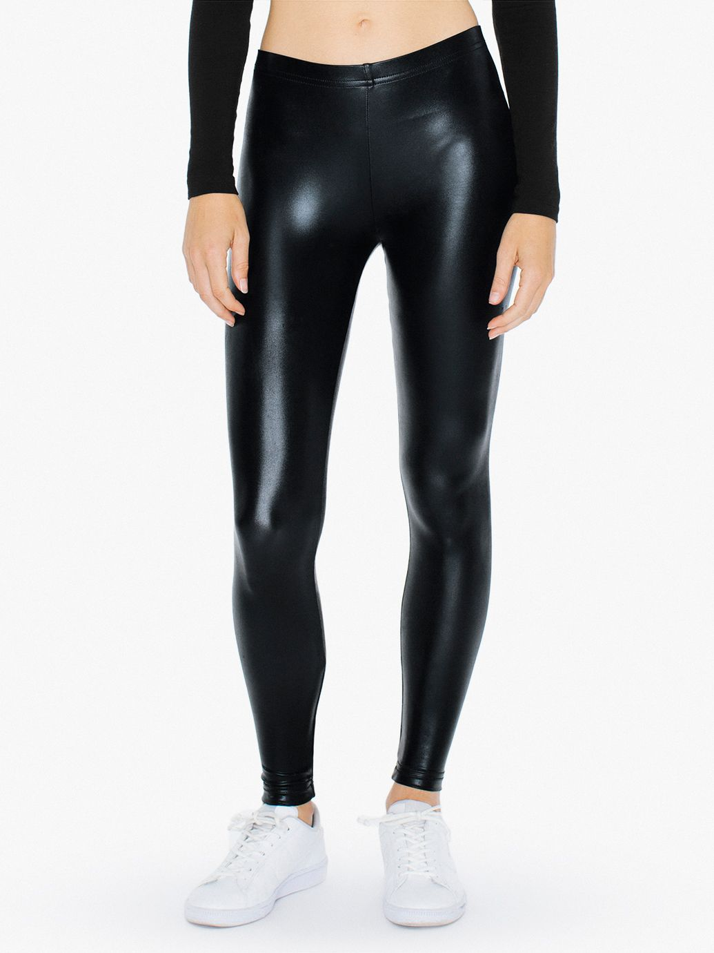 Black Shiny Leggings River Island