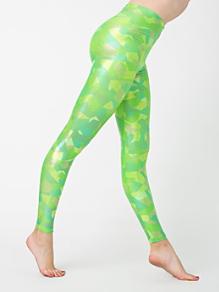 Geo Printed Shiny Legging