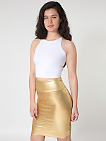 Shiny Pencil Skirt