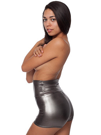 Shiny High-Waist Hot Short