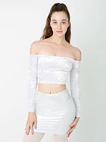 Metallic High-Waist Mini Skirt