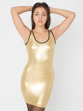 Shiny Tank Pencil Dress