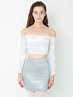 Double High-Waist Mini Skirt