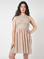 Sleeveless Lace Chiffon Dress