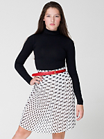 Polka Dot Chiffon Pleated Skirt