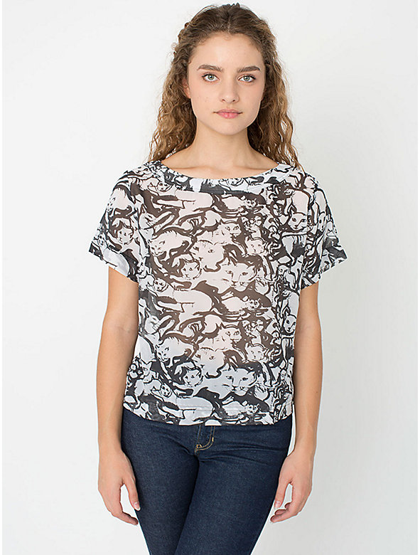 Illustrated Chiffon Tee