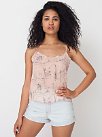 Illustrated Chiffon Camisole