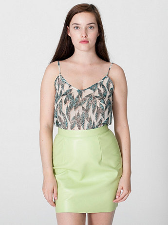 Quill Print Chiffon Camisole