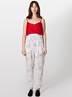 Illustrated Chiffon Harem Trouser