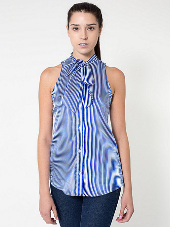 Sleeveless Secretary Blouse