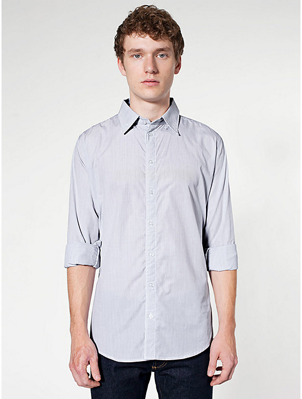 Italian Cotton Long Sleeve Button-Down