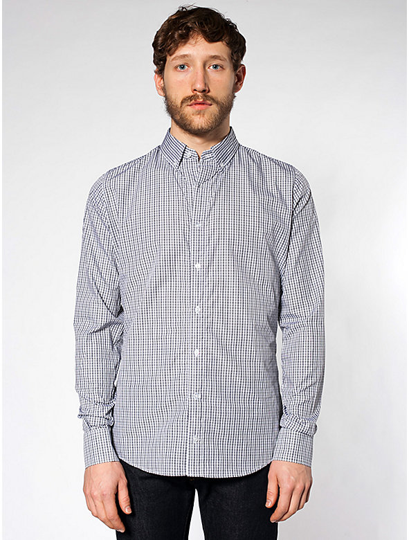 Italian Cotton Long Sleeve Button-Down