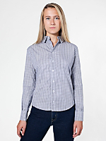 Unisex Italian Cotton Long Sleeve Button-Down