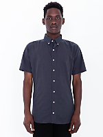 Italian Cotton Short Sleeve Button-Down with Pocket