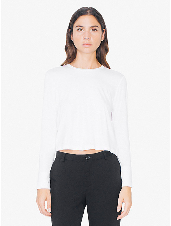 Compact Jersey Mid-Length Long Sleeve Top