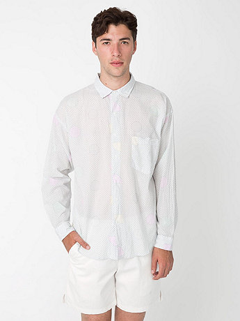 Printed Lawn Relaxed Button-Up