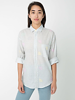 Unisex Printed Lawn Relaxed Button-Up