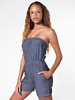 Chambray Short Jumpsuit