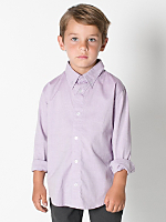 Kids Pinpoint Oxford Long Sleeve Button-Down