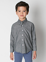 Kids Chambray Long Sleeve Button-Down