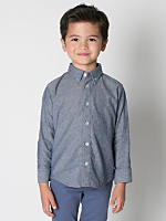 Kids' Chambray Long Sleeve Button-Down