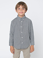 Kids Gingham Long Sleeve Button-Down