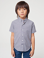 Kids' Gingham Short Sleeve Button-Down